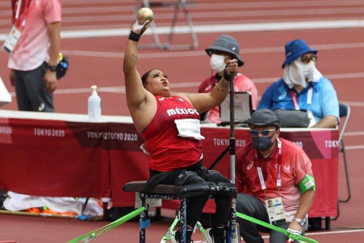 ¡Y van nueve! Gloria Garza obtiene medalla de plata en impulso de bala