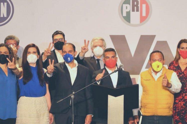 PAN, PRI y PRD se mantendrán juntos para hacer frente a Morena