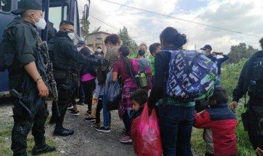 Ubican a 42 migrantes en Los Reyes La Paz
