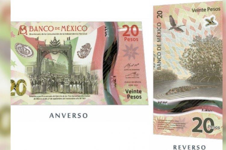 Conoce el nuevo billete de 20 pesos