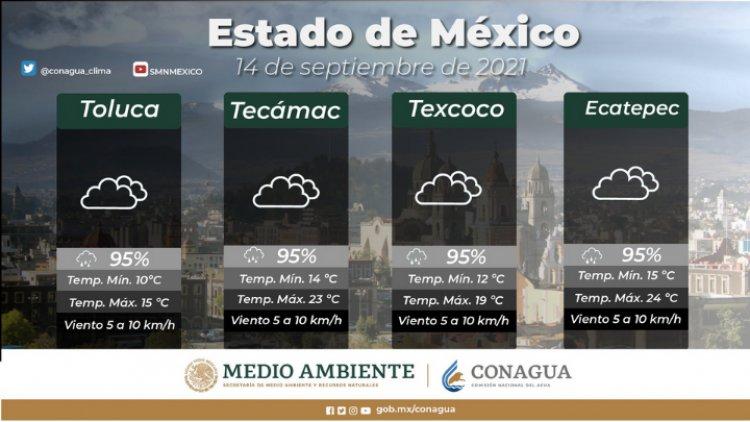Lloverá este martes en el Valle de México