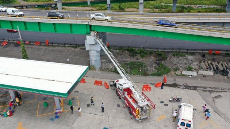 Sufre daños puente en la México-Puebla por sismo