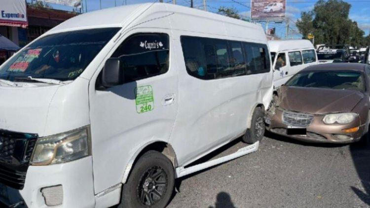 Cuatro lesionados tras choque en Ecatepec