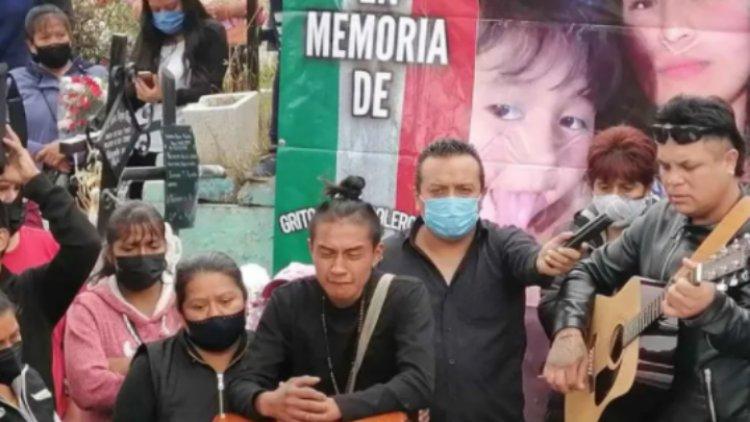 Sepultan a Paola y Dilan, en Tlalnepantla