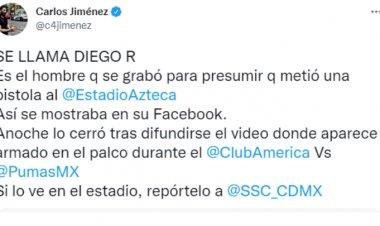 Identifican a sujeto armado en Estadio Azteca