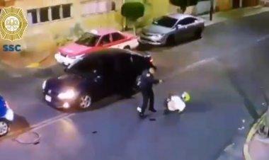 Policía balea a asaltante y frustra robo en CDMX