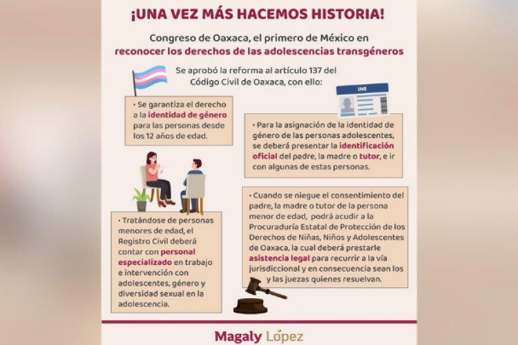 Menores en Oaxaca podrán decidir su identidad de género