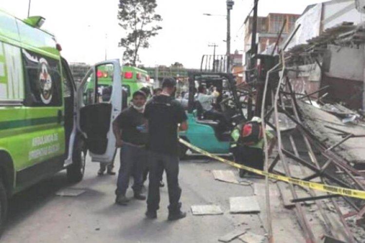 Derrumbe mata a hombre en Ecatepec